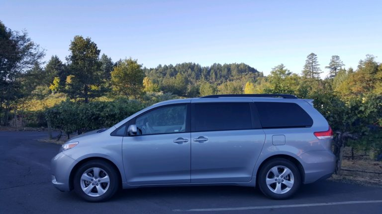 7 Person Toyota Sienna Van 6 Hour Minimum $60 an hr. Seats 7 Guests Napa Valley Wine Tours TCP 34354 B